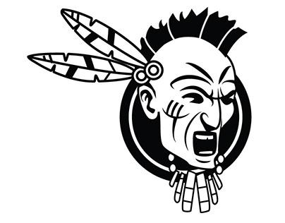 American Native Vector Image