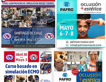 Diseño de flyers - ECMO CLC Chile - Dr G. Vernazza