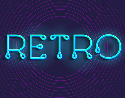 Thin stylized retro alphabet and font with a loops.