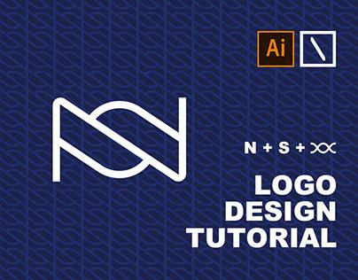 NS Logo Design Tutorial in Adobe Illustrator