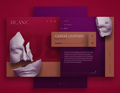 Blanc Magazine - Website design.