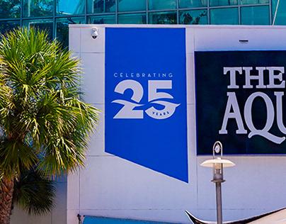The Florida Aquarium 25th Anniversary Logo