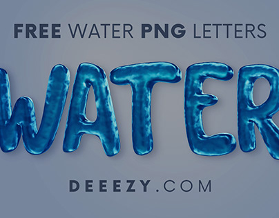 Free Water Funny 3D Lettering