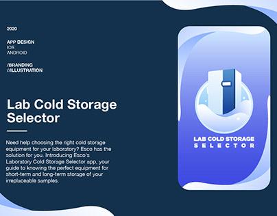 Lab Cold Storage Selector App | App design