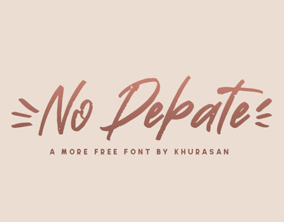 No Debate free font for commercial use