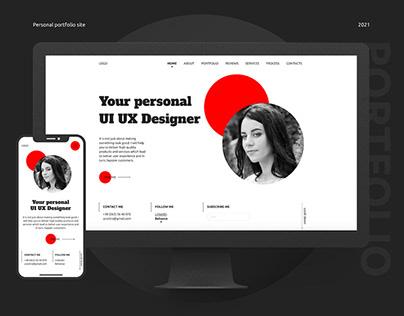 Personal Portfolio Site / UI UX Designer