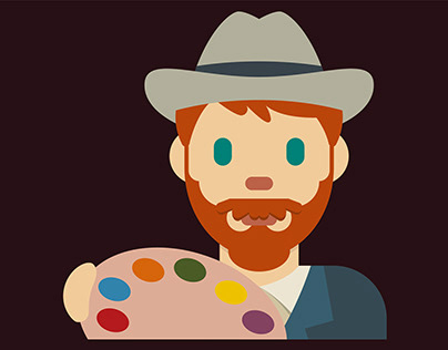 Vincent van Gogh Emoji | Illustrative Design