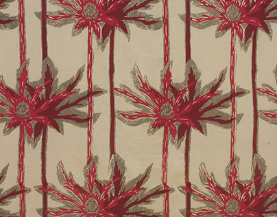 Blue Thistle Repeat Pattern