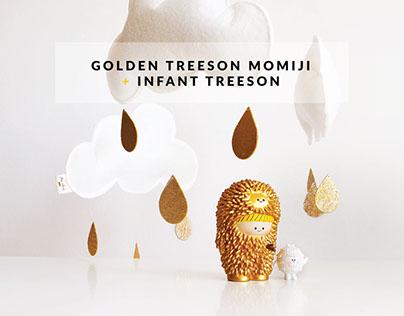 Golden Treeson and infant Treeson Momiji