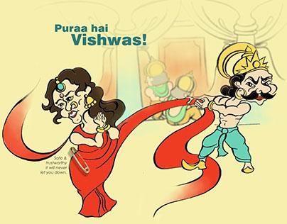 Vishwas safety pins- Advertising campaign