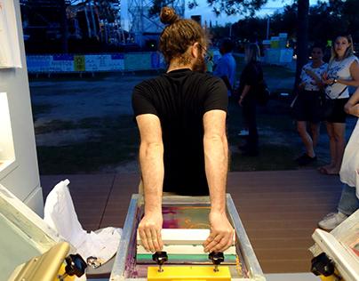 Summer Nostos Festival / SNFCC / Live Screen Printing