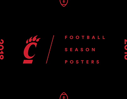 Cincinnati Bearcats Football Posters 2018