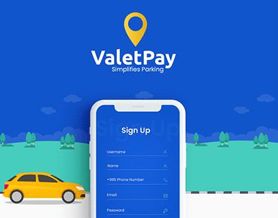 Valet Pay - Mobile App UI/UX Design