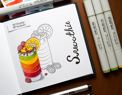 Food Illustrations #4 / Copic Markers