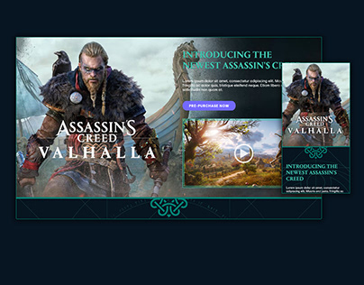 Assassin's Creed Valhalla Homepage Take-over