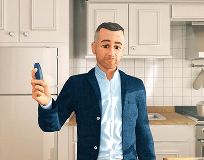 Peter - 3D instructions for use for INBRIJA inhaler