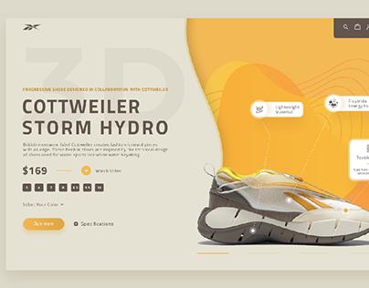 Reebok Cottweiler Storm Hydro Shoes Website Concept