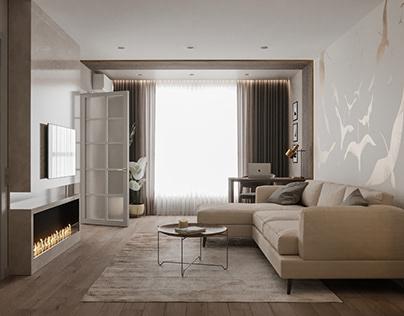 Дизайн-проект 1-комнатной квартиры 42,9 м²