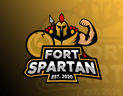 Mascot logo concept for a personal gym