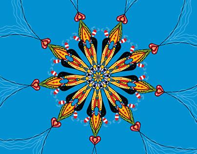 Kayak Mandala - Digital Illustration