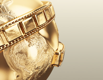 GOLDEN GLOBE TROPHY(3d model)