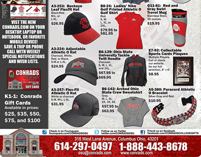 Conrads College Gifts BSB Ads & More