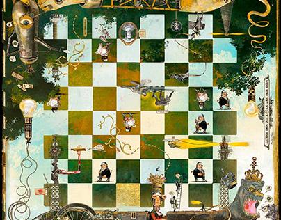"BRUNO MALLART'S ""Upside Down Chess Board"""
