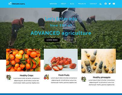 Agro Farm website designed in figma