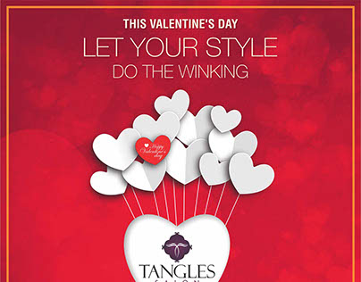 Tangles Valentine's Day Offer Poster