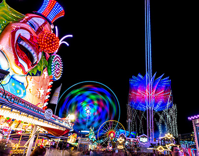Schueberfuer 2019, fairground's lights