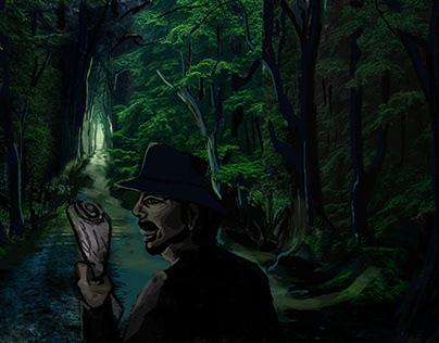 Concept art |Men in forest|
