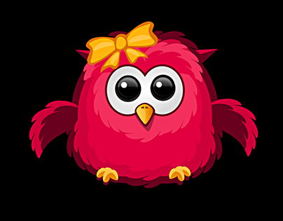 Birds design for a mobile game
