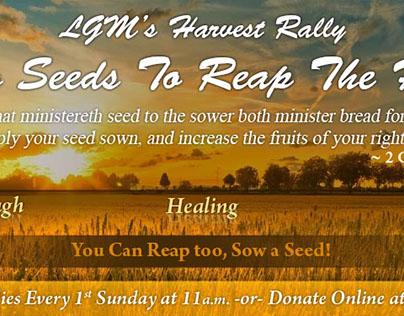 LGM's Harvest Rally Banner (Print)