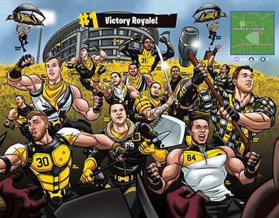 Iowa Football Fortnite Theme 2018 Senior Poster Art