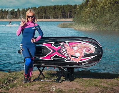 Airbrushing on jet ski for Maiga Janson