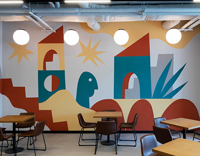 Wall painting for IT coworking
