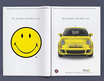 Fiat 500 x Smiley