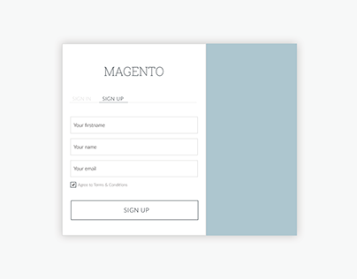 Signup form UI