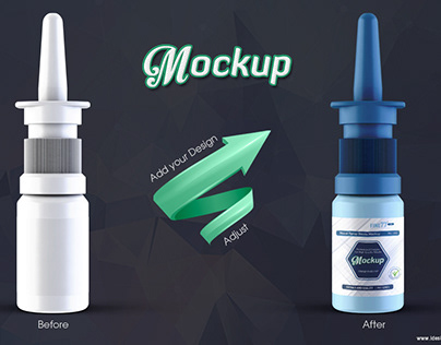 Nasal Spray Bottle Mockup