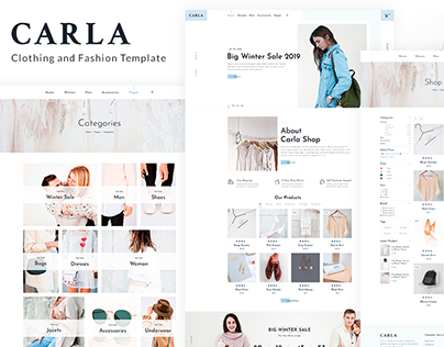 Carla - Clothing and Fashion Template for ThemeForest