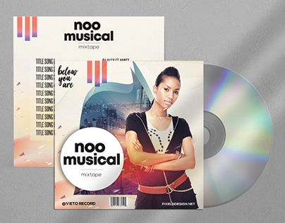 Noo Musical Free Mixtape CD Album PSD Template