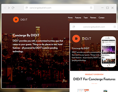DIDiT App for Concierge Web Design