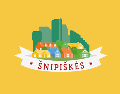 Visual identity for the neighbourhood: Šnipiškės