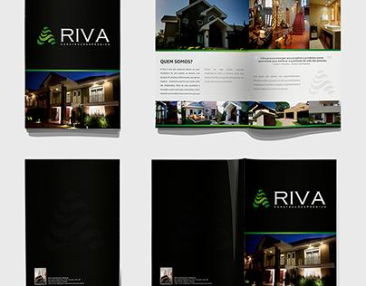 Folder e Site - Riva Construções Premium