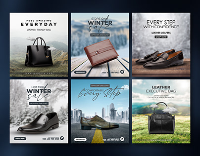 Leather Product Social Media Banner Templates