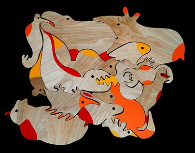 HUEY: animal puzzles