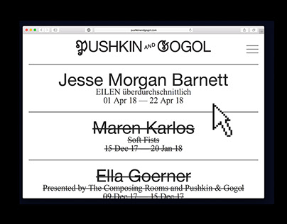 pushkin and gogol — webdesign, coding
