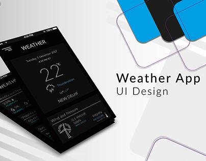 Weather App - UI Design