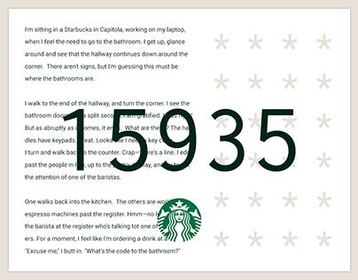 Case Study Starbucks Bathroom Codes On Behance - Starbucks bathroom policy
