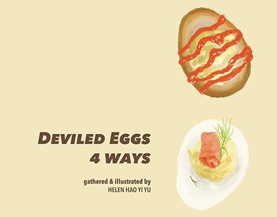 DEVILED EGGS 4 WAYS